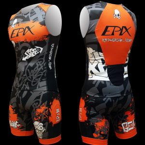 LimitedEdition Graffiti Airflow + Tri Shorts (Orange)