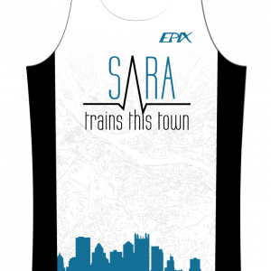 Sara Trains This Town GoFierce Running Singlet