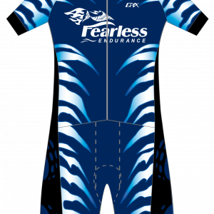 Fearless NEW GoFierce Aero Pro Edition Short Sleeve 1 Piece (Fleece Pad) (Neon/Blue)